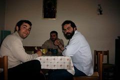 Io Agnello e Salvo nella stanza da pranzo